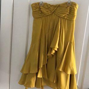 Bgbg formal dress. Mustard color